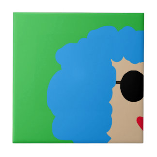 Lady in sunglasses tile