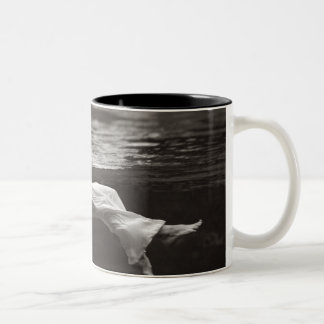 Lady in the Coffee Two-Tone Coffee Mug