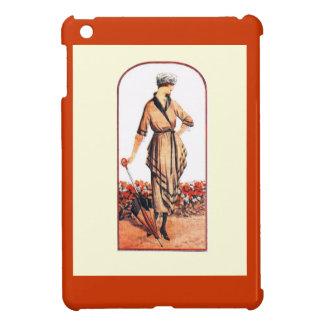 Lady in the garden iPad mini covers