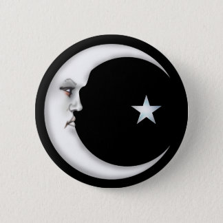 Lady in the Moon 6 Cm Round Badge