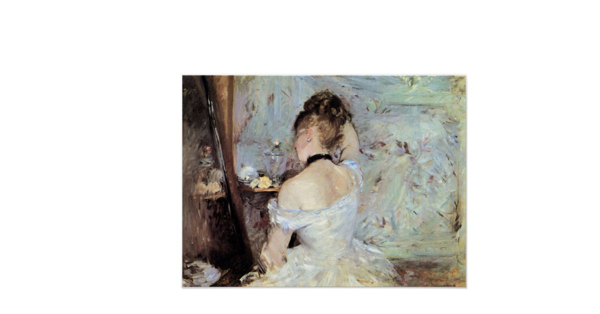 in the toilet by berthe morisot print zazzle