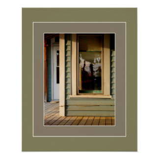 Lady in the Window Artprint Poster