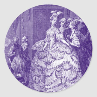 Lady in Waiting to Marie Antoinette Round Sticker