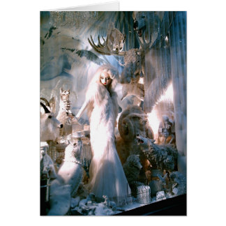 Lady in White Breaking the Ice Note Card