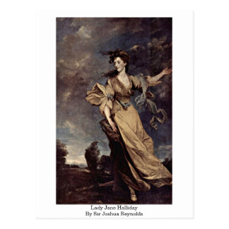 Lady Jane Halliday By Sir Joshua Reynolds Postcard