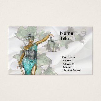 Lady Justice 1 Business Card