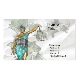 Lady Justice 1 Pack Of Standard Business Cards