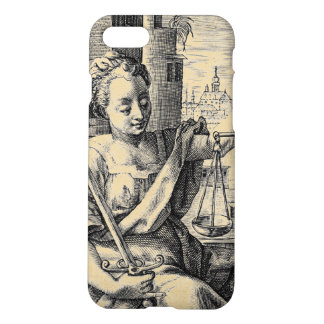 Lady Justice and Scales iPhone 7 Case