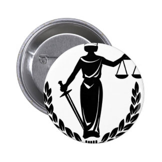 LADY JUSTICE CO. 6 CM ROUND BADGE