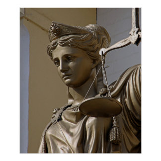 Lady Justice Statue Poster