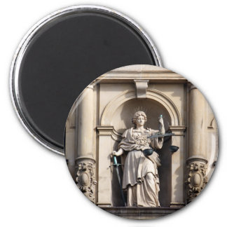 Lady Justice with Sword and Scale Magnet