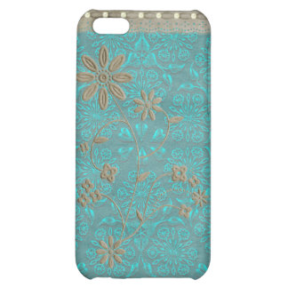 Lady Lace & Pearls Vintage Print iPhone 4 Cover For iPhone 5C
