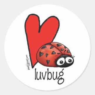 Lady Lashes Lovebug - Valentine Round Sticker