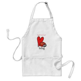 Lady Lashes Lovebug - Valentine Standard Apron