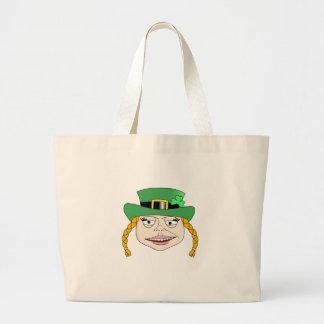 Lady Leprechaun Jumbo Tote Bag