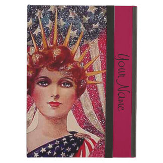 Lady Liberty 4th of July Add Your Text iPad Air Case