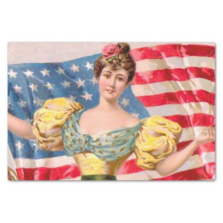 Lady Liberty American Flag Tissue Paper