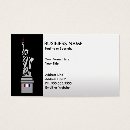 lady liberty business card