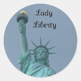 Lady Liberty Classic Round Sticker