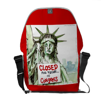 Lady Liberty Closed 4 Repairs Large Messenger Bag Courier Bags