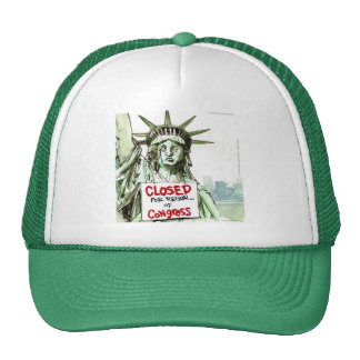 Lady Liberty Closed For Repair Of Congress Funny Mesh Hats
