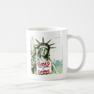 Lady Liberty Closed For Repair Of Congress Funny Mug