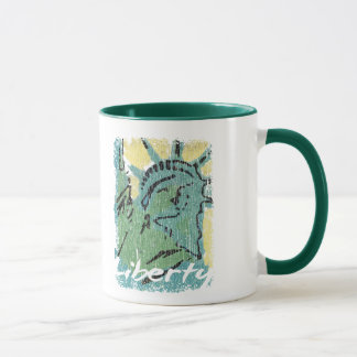 Lady Liberty Distressed Mug