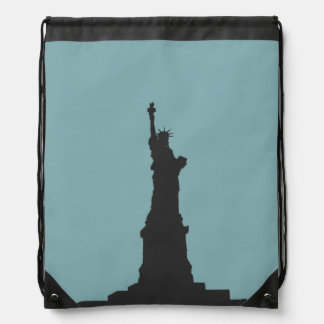 Lady Liberty Drawstring Backpack
