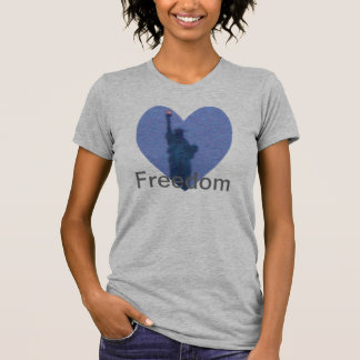 Lady Liberty Free Heart Tshirt Freedom Torch