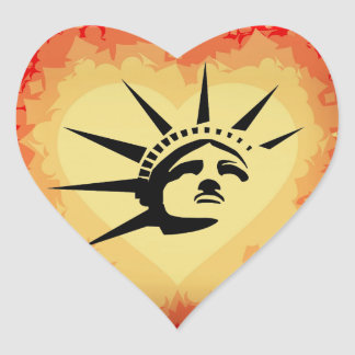 Lady Liberty Heart Sticker