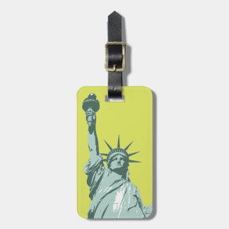 Lady Liberty Lime Green Luggage Tag