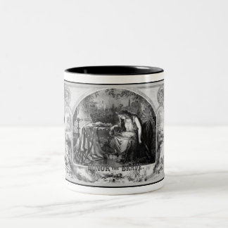 Lady Liberty Mourns During The Civil War Two-Tone Coffee Mug