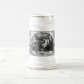 Lady Liberty Mourns During The Civil War 18 Oz Beer Stein