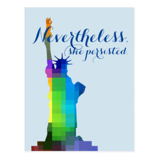 Lady Liberty Persisted Postcard