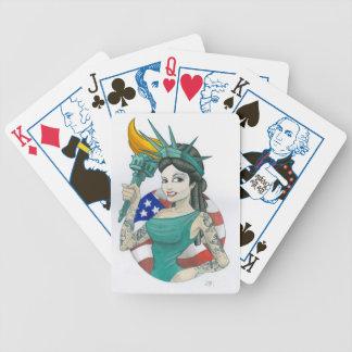 Lady Liberty Poker Cards