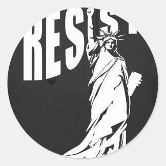 lady-liberty-resist- classic round sticker