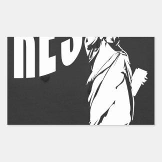 lady-liberty-resist- rectangular sticker