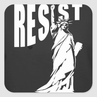 lady-liberty-resist- square sticker