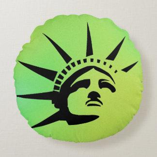 Lady Liberty Round Cushion