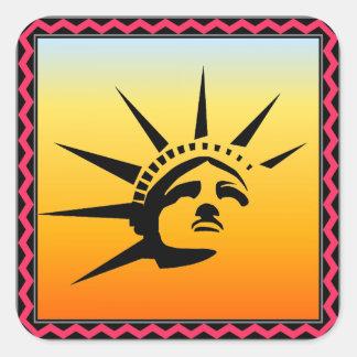 Lady Liberty Square Sticker