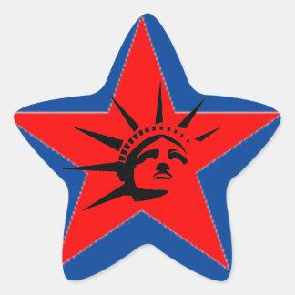 Lady Liberty Star Sticker
