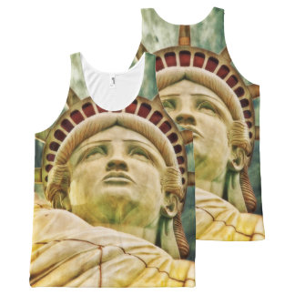 Lady Liberty, Statue of Liberty All-Over Print Singlet