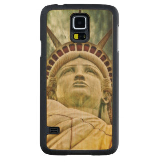 Lady Liberty, Statue of Liberty Carved Maple Galaxy S5 Case