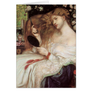 Lady Lilith by Rossetti, Vintage Victorian Portait Card