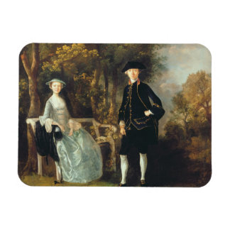 Lady Lloyd and her son, Richard Savage Lloyd, of H Rectangular Photo Magnet