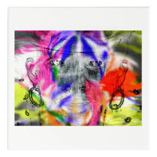 Lady loves aura acrylic wall art