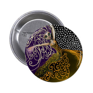 Lady Luck 6 Cm Round Badge