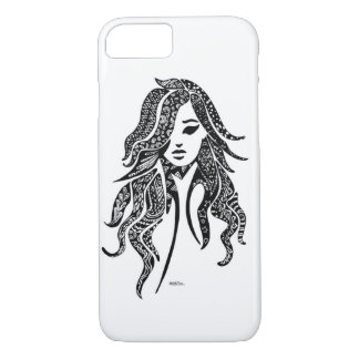 Lady Luck -abstract lack Design iPhone 7 Case