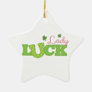 Lady Luck Ceramic Star Decoration
