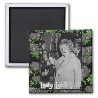 Lady Luck Square Magnet